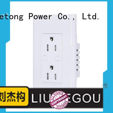 LIUJIEGOU usb american plug socket factory price room