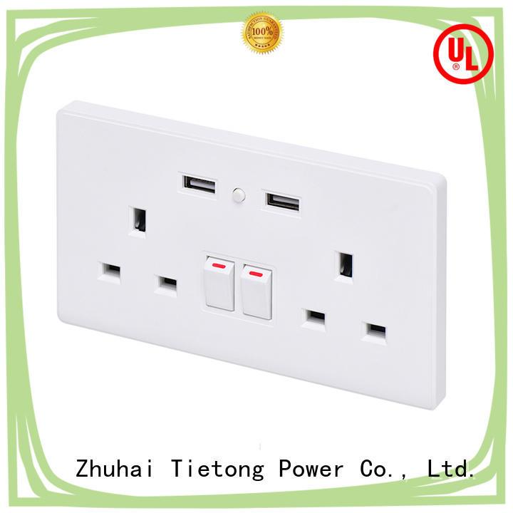 UK Style Smart WiFi Double USB Wall Power Socket Multi Plug