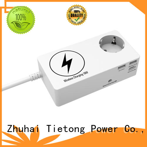 1 Outlet German Surge Protector with Wireless Phone Charger