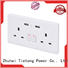 UK Style Smart WiFi Double USB Wall Power Socket Multi Plug