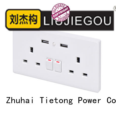 LIUJIEGOU colours british socket supplier commercial