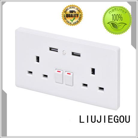 LIUJIEGOU smart brass plug sockets for business commercial
